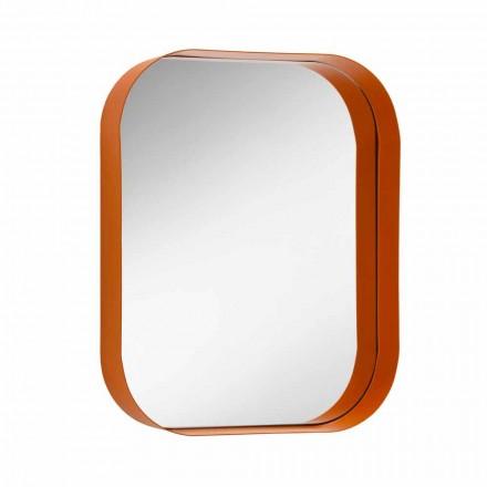 Miroir Rectangulaire Arrondi, Cadre en Métal Fabriqué en Italie - Alexandra