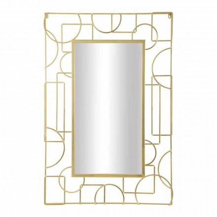 Miroir Mural Rectangulaire Design Moderne en Fer - Pline
