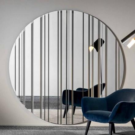 Miroir mural design rond diamètre 200 cm Made in Italy - Coriandolo