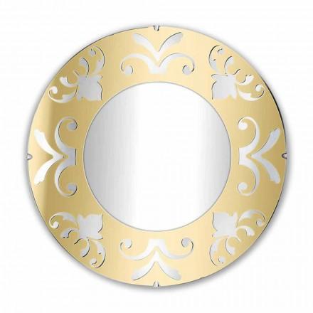 Miroir Design Rond en Plexiglas Or Argent ou Bronze avec Cadre - Foscolo
