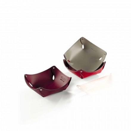 Vide-poches de design  moderne  en cuir ou cuir régénéré  Clay