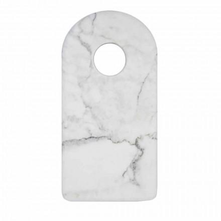 Planche à découper moderne en marbre blanc de Carrare fabriqué en Italie - Amros