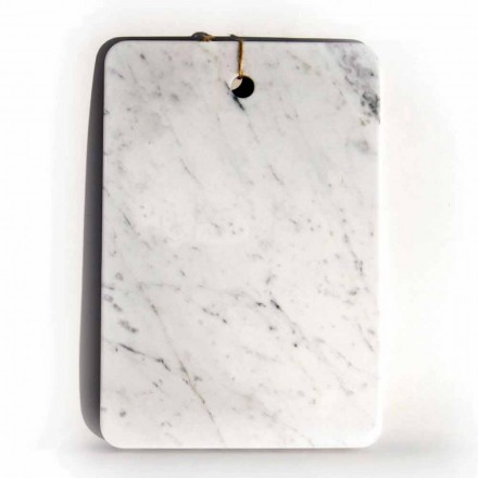 Planche à découper design Made in Italy en marbre blanc de Carrare - Masha