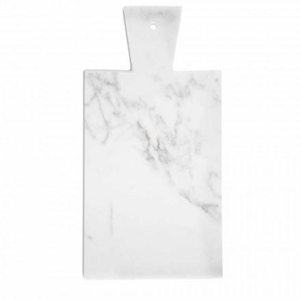 Planche à découper moderne en marbre blanc de Carrare Made in Italy - Biblon