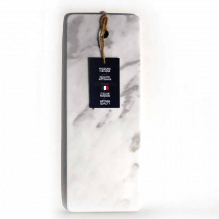 Planche à découper rectangulaire en marbre blanc de Carrare Made in Italy - Masha