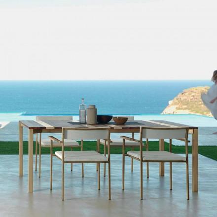 Talenti Casilda table de jardin de design L260xH76cm faite en Italie