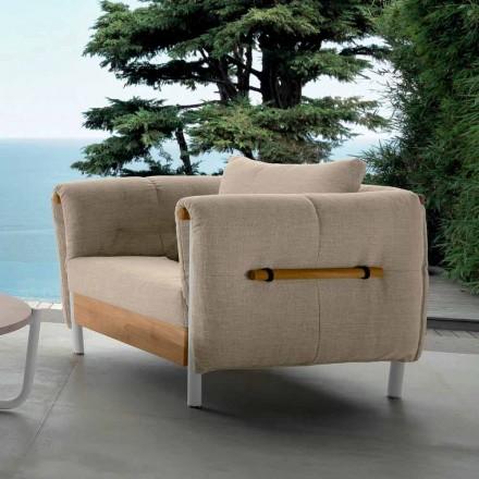 Fauteuil de jardin design Talenti Domino fabriqué en Italie