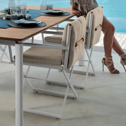 Chaise de réalisateur Talenti Domino pour design d'extérieur fabriqué en Italie