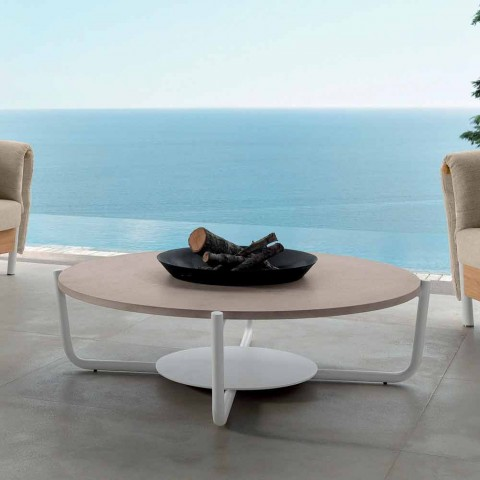 Talenti Domino table basse de café de jardin design faite en Italie