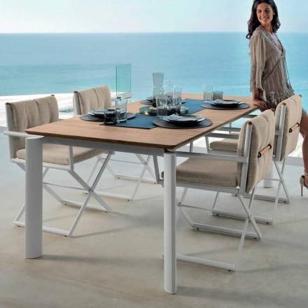 Table de jardin extensible Talenti Domino 160 / 215cm fabriquée en Italie