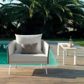 Banc de jardin design moderne Talenti Milo fabriqué en Italie