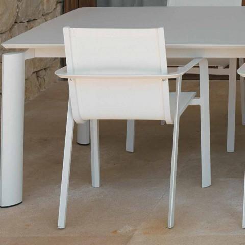 Chaise de jardin design en aluminium Talenti Milo fabriquée en Italie
