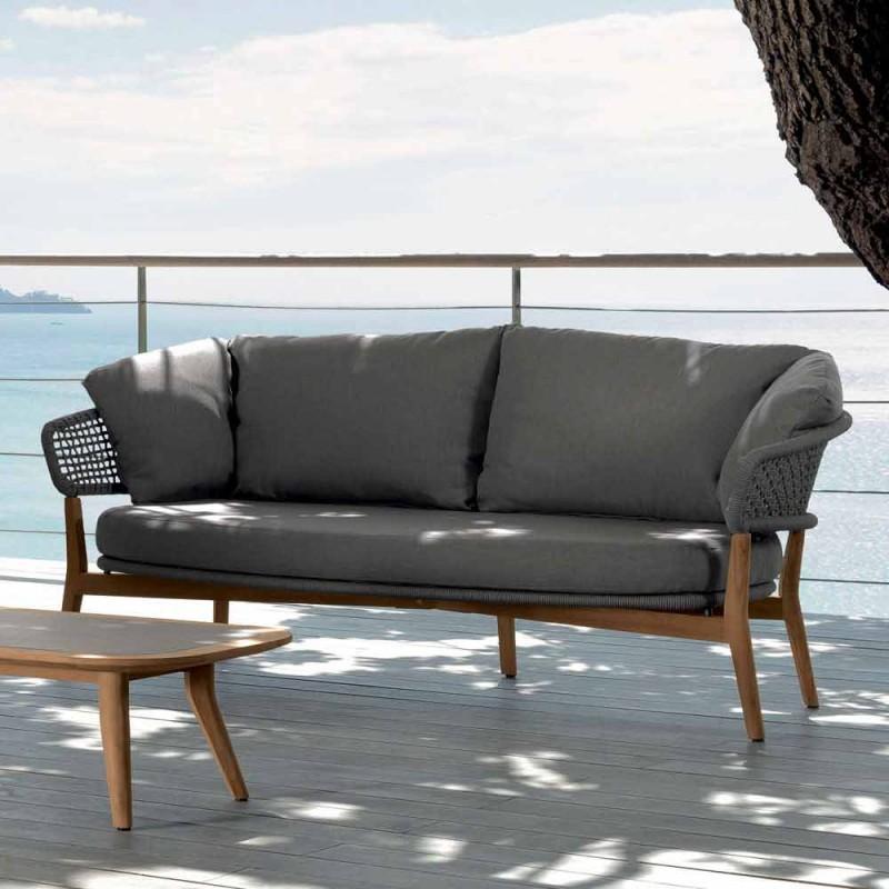 Canapé de jardin design moderne Talenti Moon fabriqué en Italie