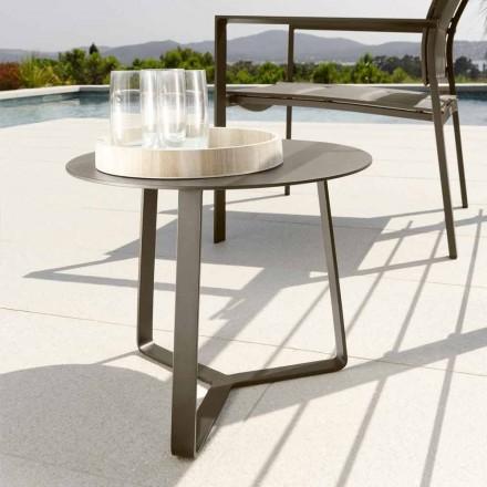 Table basse de jardin Talenti Touch en aluminium d.45 fabriquée en Italie