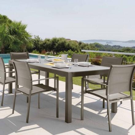 Table d'extérieur extensible Talenti Touch 152 / 225cm fabriquée en Italie