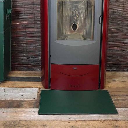 Tapis en cuir pour cheminée/poêle Virgilio Made in Italy