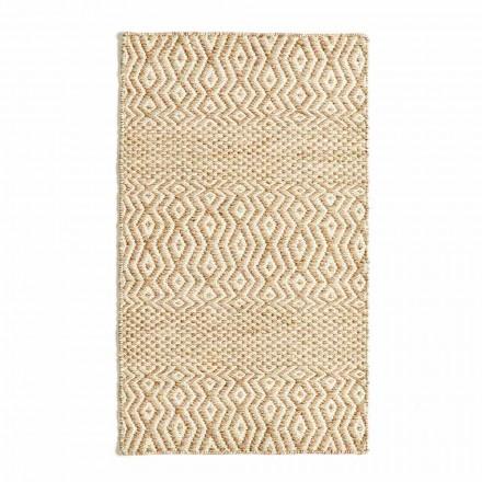 Tapis de salon design moderne en laine et coton faits à la main - Minera
