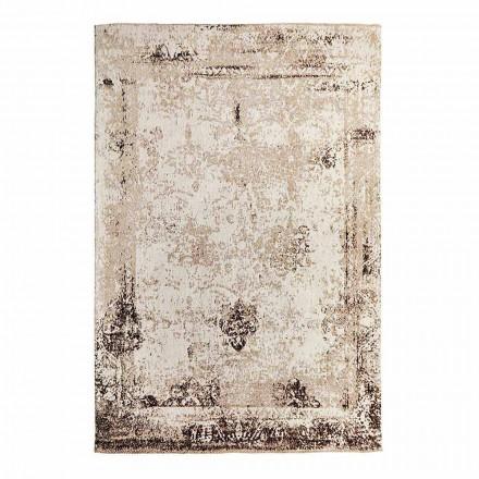 Tapis de salon design vintage en polyester et coton - Hola
