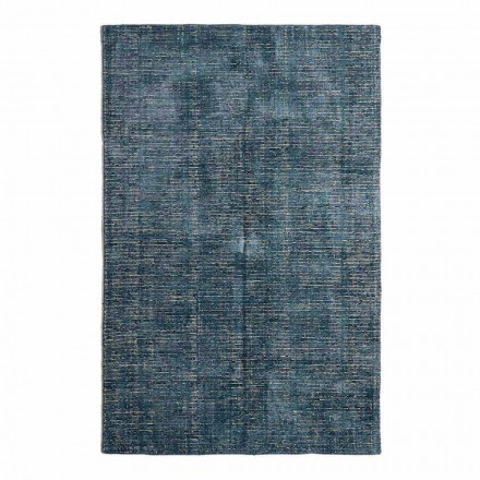 Tapis de salon en coton, viscose et laine fabriqué sur métier à tisser manuel - Melita