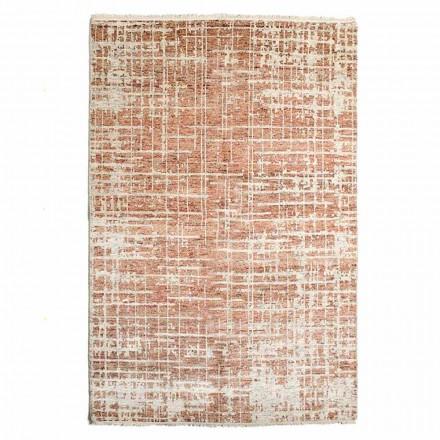Tapis de salon moderne tissé à la main en laine et coton - Neppo