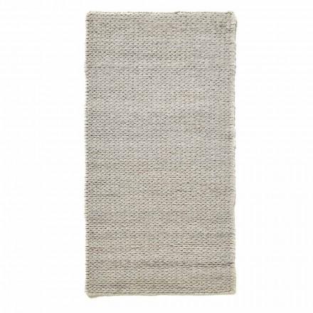Tapis de salon moderne tissé à la main en polyester et coton - Tabatha
