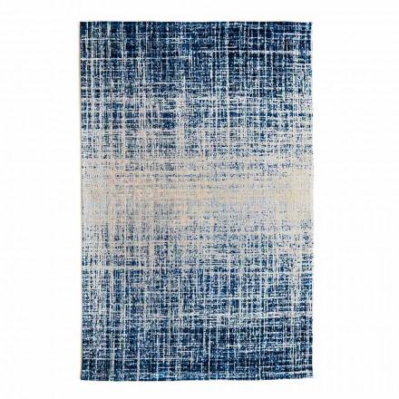 Tapis de salon rectangulaire design en polyester et coton - Style