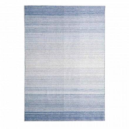 Tapis de salon rectangulaire tissé à la main en polyester et coton - Zonte