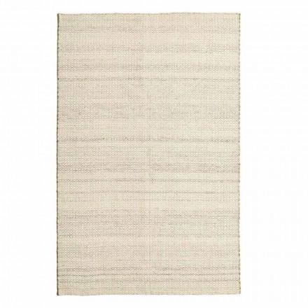Tapis de salon tissé à la main en laine et coton Design moderne - Rivet