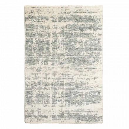 Tapis design tissé à la main en laine et coton pour salon - Cuivre