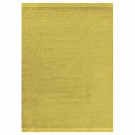 Design moderne tapis coloré et grand en soie et laine avec bande - mélange