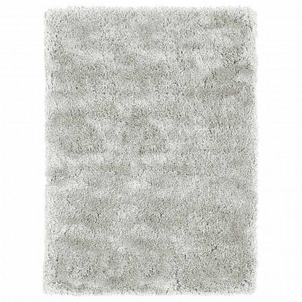Grand tapis à poils longs design moderne en soie colorée et coton - Etesia