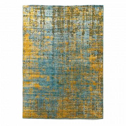 Tapis de salon moderne noué à la main en soie de bambou et coton - Buba