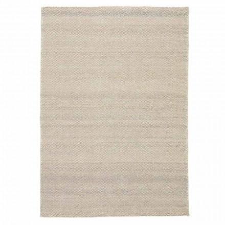 Tapis de salon moderne en polyester et coton tissé à la main - Soledad