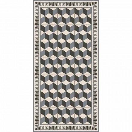 Tapis de salon moderne en pvc et polyester avec motif géométrique - Romio