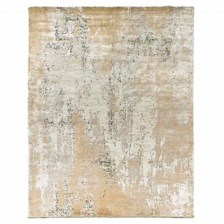 Tapis élégant de design moderne pour salon en soie de bambou et laine - Pasha