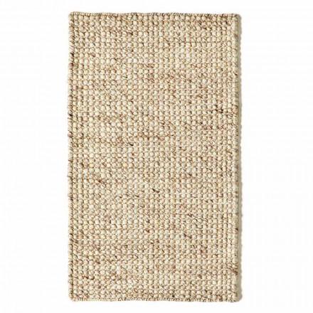 Tapis de salon moderne en laine et coton tissé à la main - Épave