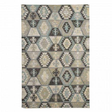 Tapis de salon en laine et coton à motifs de design moderne - Ratta
