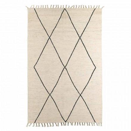 Tapis de salon en laine et coton avec un design géométrique moderne - Metria