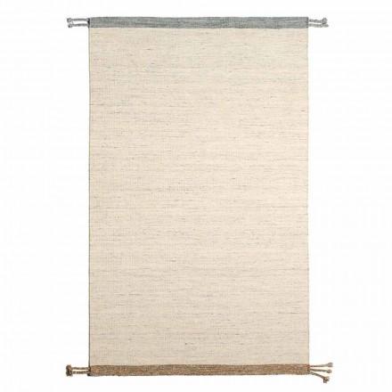 Tapis de salon rectangulaire en laine et coton Design polyvalent et moderne - Dimma