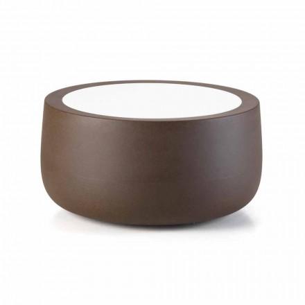 Table basse d'extérieur design basse en HPL et polyéthylène fabriquée en Italie - Belida