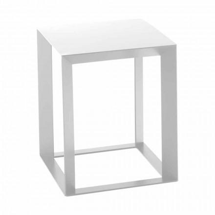 Table basse design carrée en métal 2 dimensions - Josyane