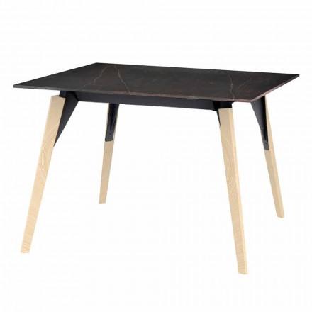 Table basse effet bois et marbre, 3 couleurs 2 tailles - Faz Wood par Vondom