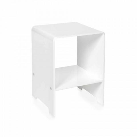 Table basse / chevet design moderne Mimi blanc, fabriqué en Italie