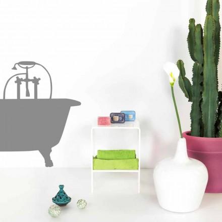 Table d'appoint blanche de design moderne Mimi, faite en Italie