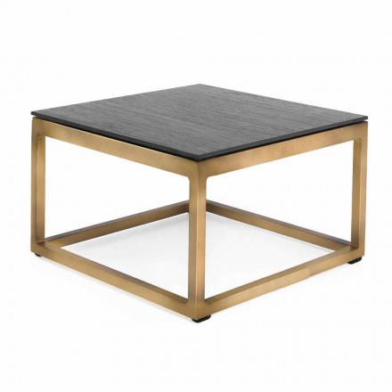 Table d'appoint extérieure design carrée 2 dimensions 3 finitions - Julie