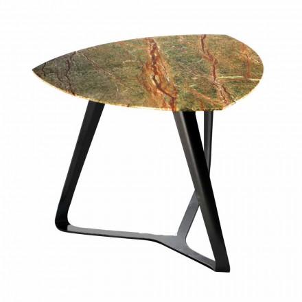 Table basse artisanale avec plateau en marbre de luxe Made in Italy - Royal