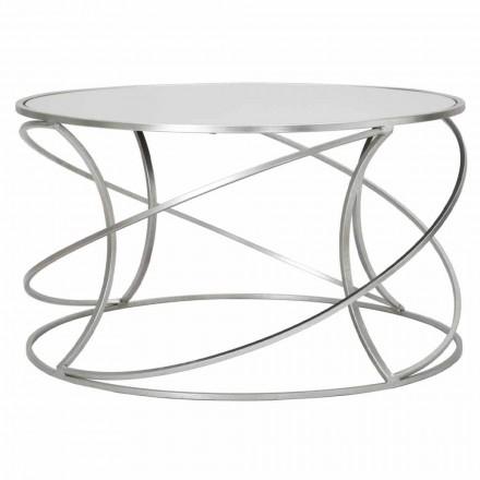 Table basse de salon en fer et miroir moderne - Corine