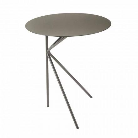 Table basse ronde en métal, design en différentes couleurs et 2 tailles - Olesya