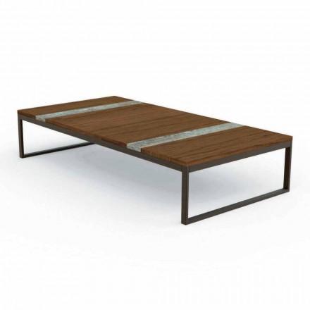 Table basse de jardin en bois Casilda par Talenti  70x140 cm