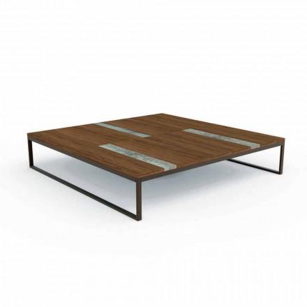 Table basse de jardin en bois Casilda par Talenti  140x140 cm